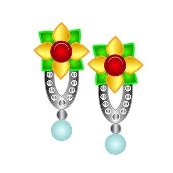 花卉圖案耳環
