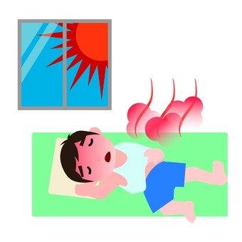 Men who are indoors with heatstroke