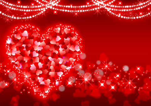 Heart glitter valentine background