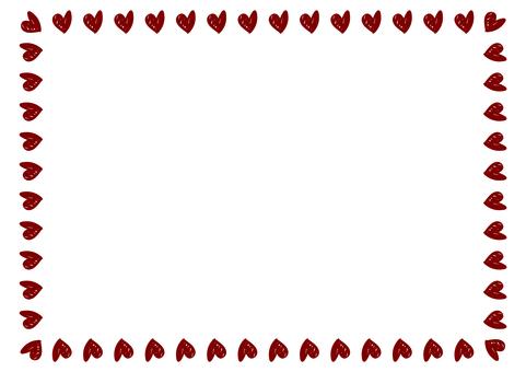 Square square heart frame 6