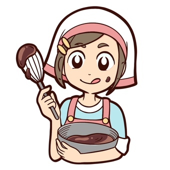 Girl making homemade chocolate