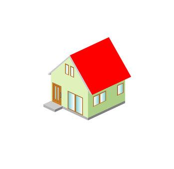 紅色大屋頂房子