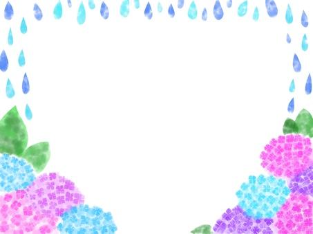 [Frame] Hydrangea and rain