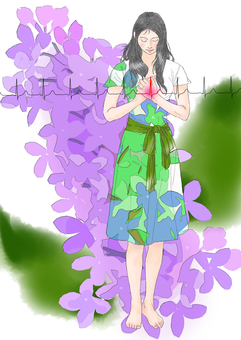 라일락 여성