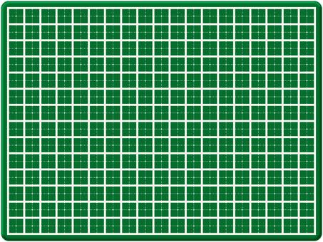 Cutter mat grid rule grid grid ruled line green