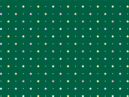 ai Star pattern with swatch background green