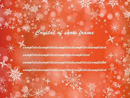 Snow crystal frame ver 03