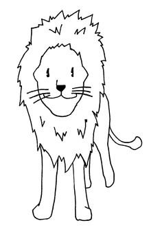 사자 색칠 용