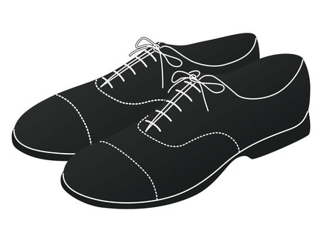 Leather shoes B / W