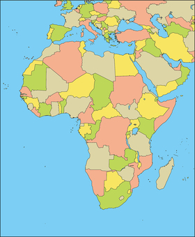 Africa Region-Country-Sea