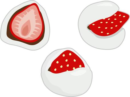 Strawberry Daifuku set