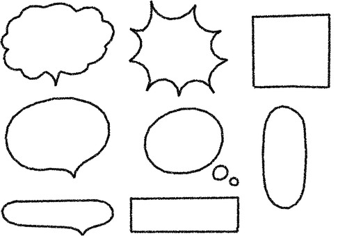 Crayon style speech bubble set