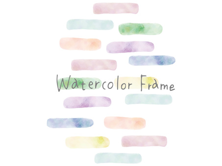 Watercolor frame ver16