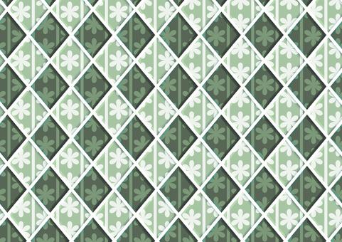 Flower tile (green)