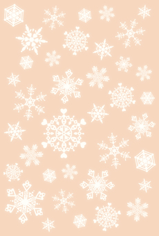 Snow crystal frame · brown · reverse side