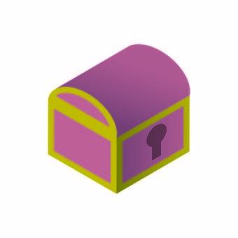 보물 상자의 일러스트