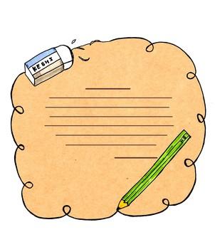 Pencils & scraps _ Kraft paper _ line available
