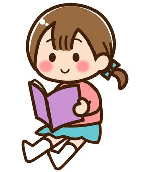 Reading 01 / Children reading books