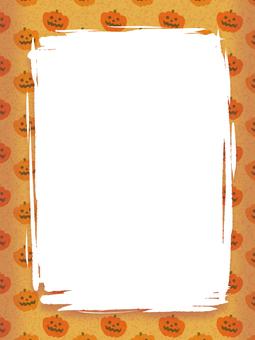 Halloween frame pumpkin pattern