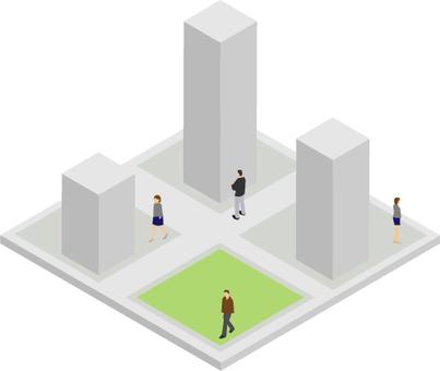 Three-dimensional illustration figures