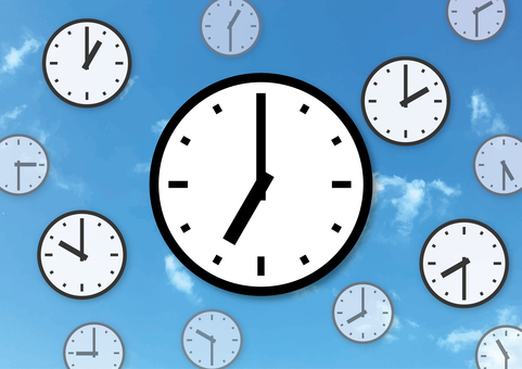 Busy morning clock Clock at sky 7