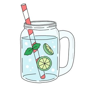 Detox water lime