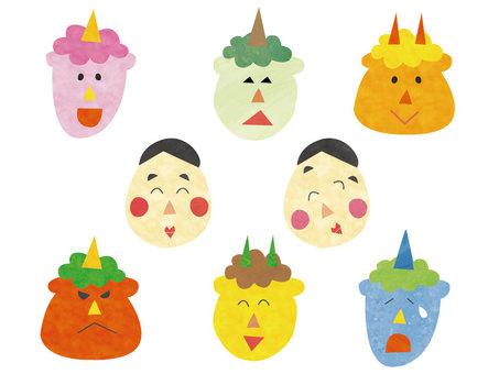 Setsubun Oni Ogre Bean Mask Set