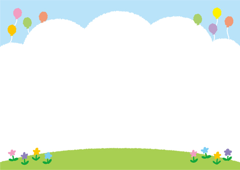 Background (blue sky, lawn and park flower)