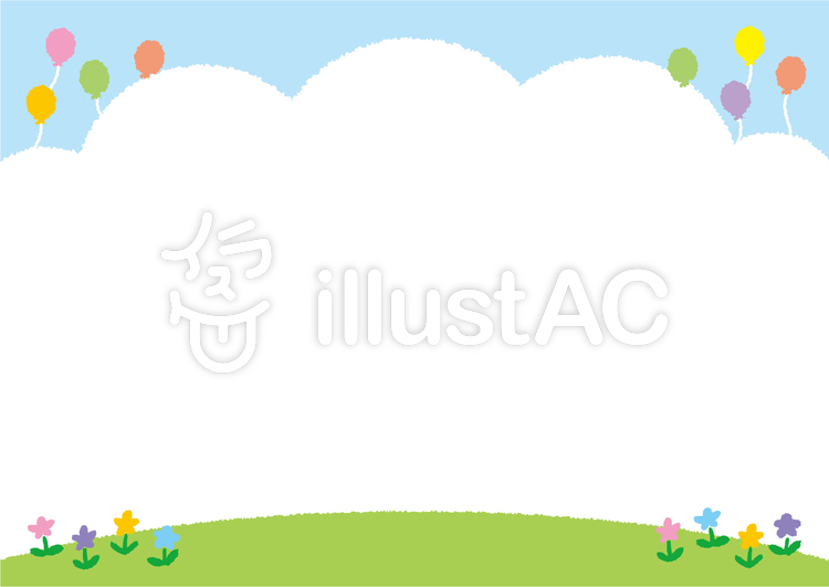 背景青空と芝生と公園の花イラスト No 299259無料イラストなら