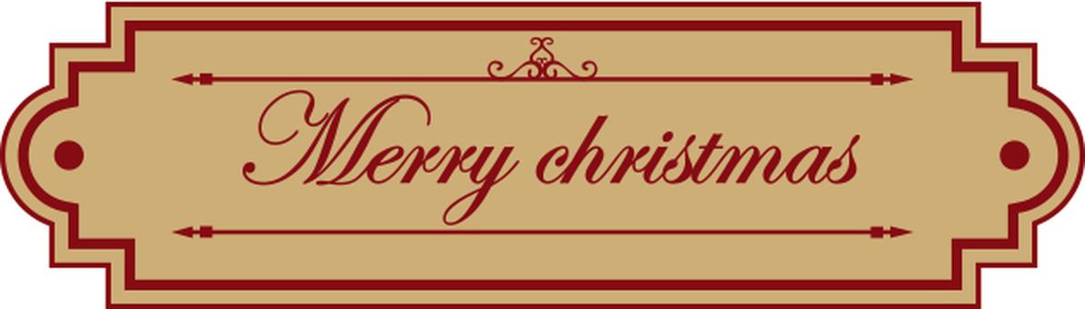 크리스마스 문자 레이블