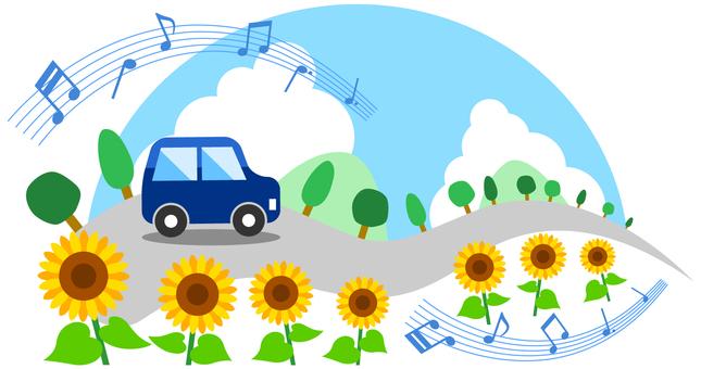 夏のドライブイメージ