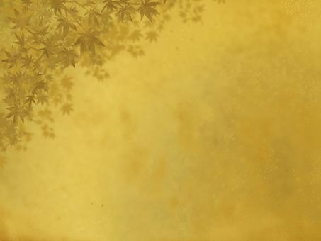 가을 황금 일본식 프레임
