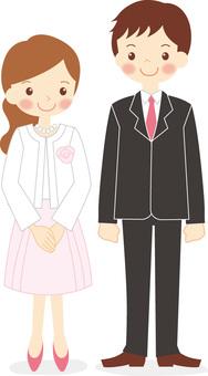Formal attire for men and women
