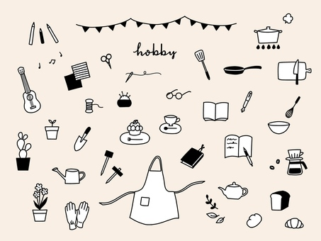Hobby illustration set