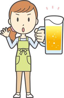 圍裙青春長發-103-全身