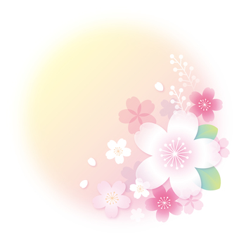 Cherry Blossoms Frame (Yellow) No character