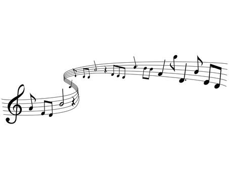 음악 음표 일러스트 11 · 흐르는 음악