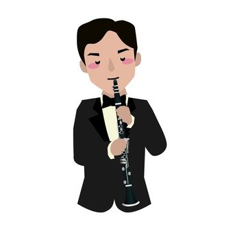 Oboe player, male