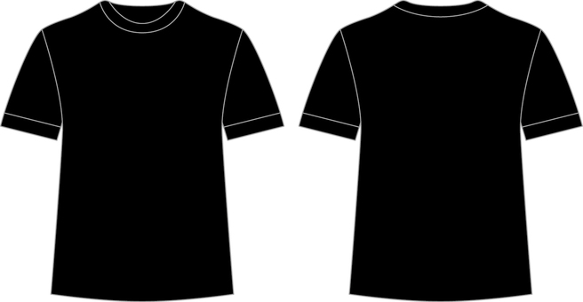 T-shirt _ front / back _ black