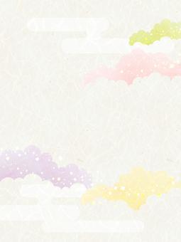 Background (Japanese paper _ 彩雲 _ longitudinals)