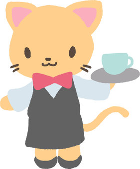 Waitress cat