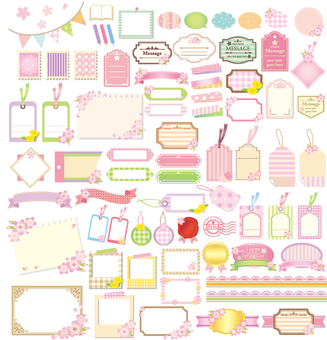Spring's cute label set light version