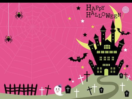 Halloween transverse background material 4