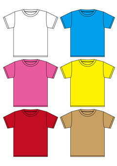 T-shirt (plain), please put a letter freely