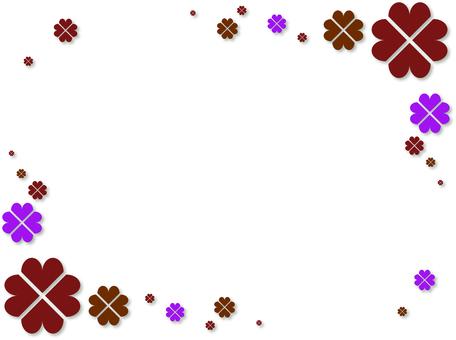 Clover frame (red)