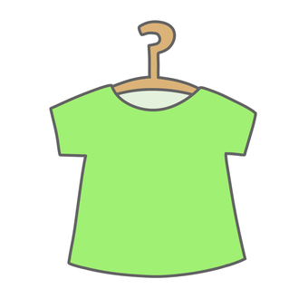 T-shirt on a hanger (green)