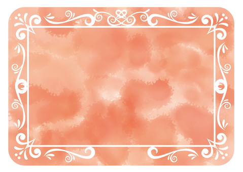 Antique frame watercolor orange rounded round