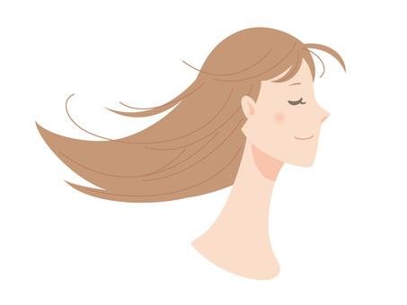 Female_ Loning hair