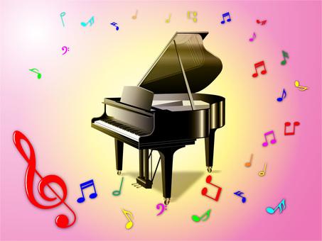 Piano (Pink Yellow)