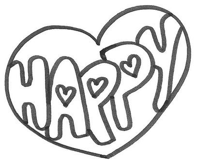 Happy logo happy heart